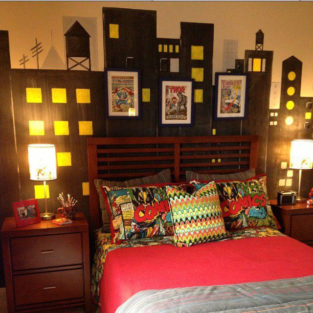 Super Hero themed boys room idea