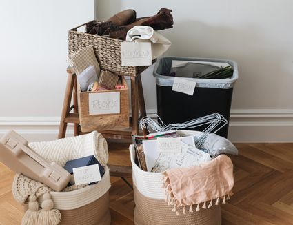 putting items into different piles