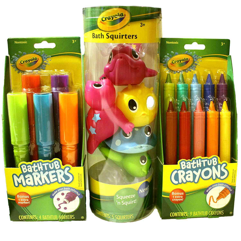 Crayola Bath Time Fun Bundle Including Bathtub Markers