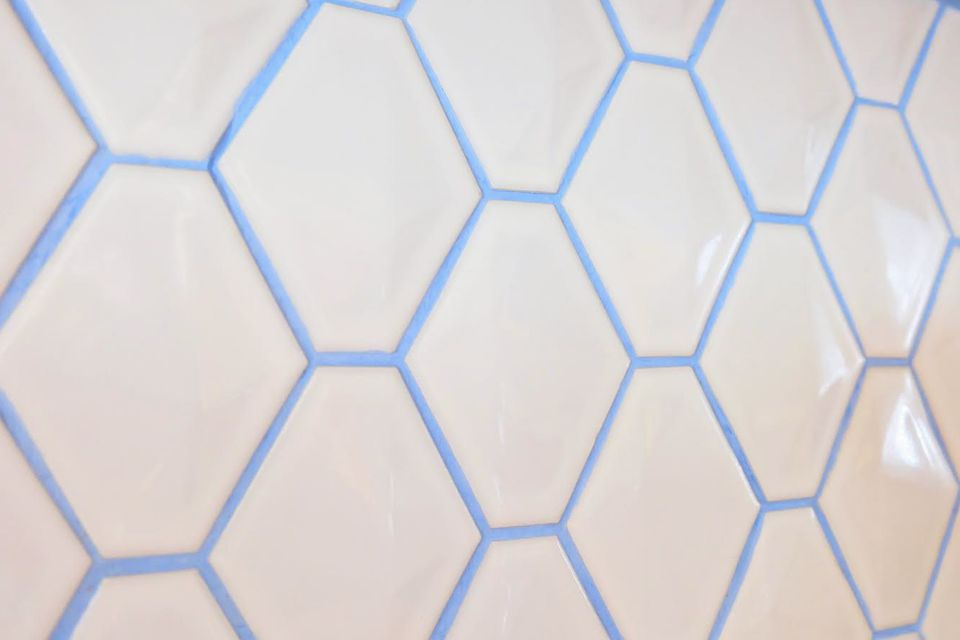 Colorful Grout Es Up Boring White Tile