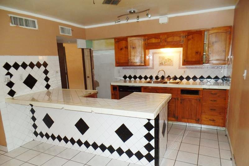 All Tile Kitchen