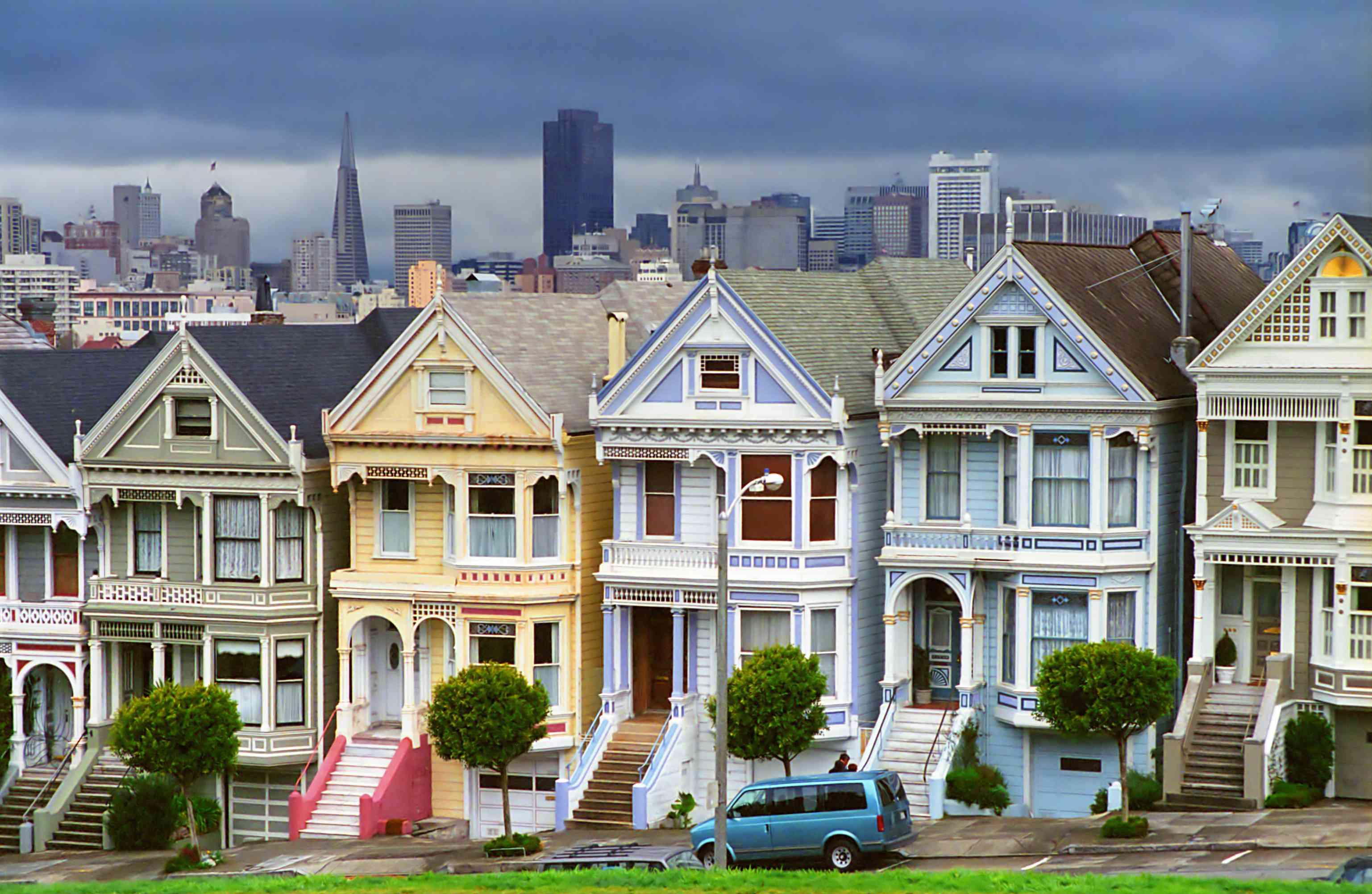 Painted ladies townhouses