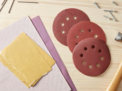 Various sandpaper grit