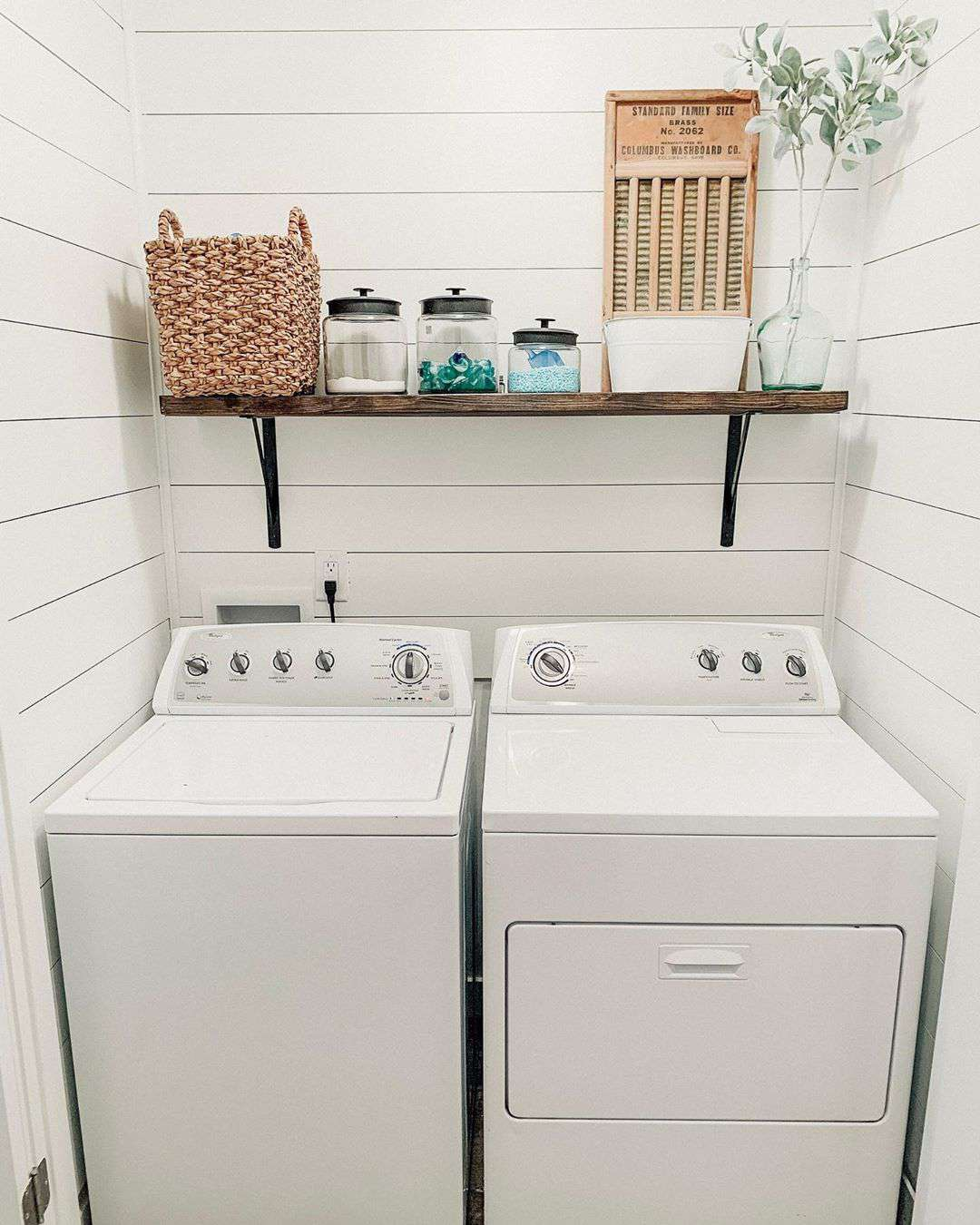 Small laundry room with just machines