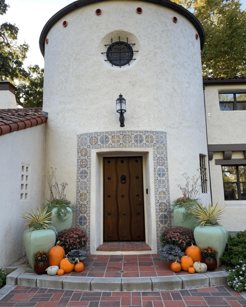 A Spanish Colonial Revival house with tile.
