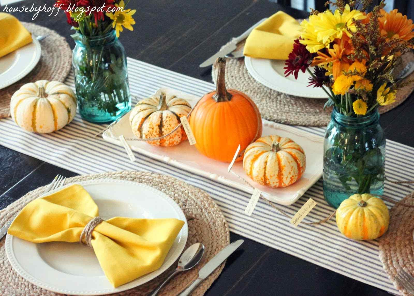 preppy thanksgiving table