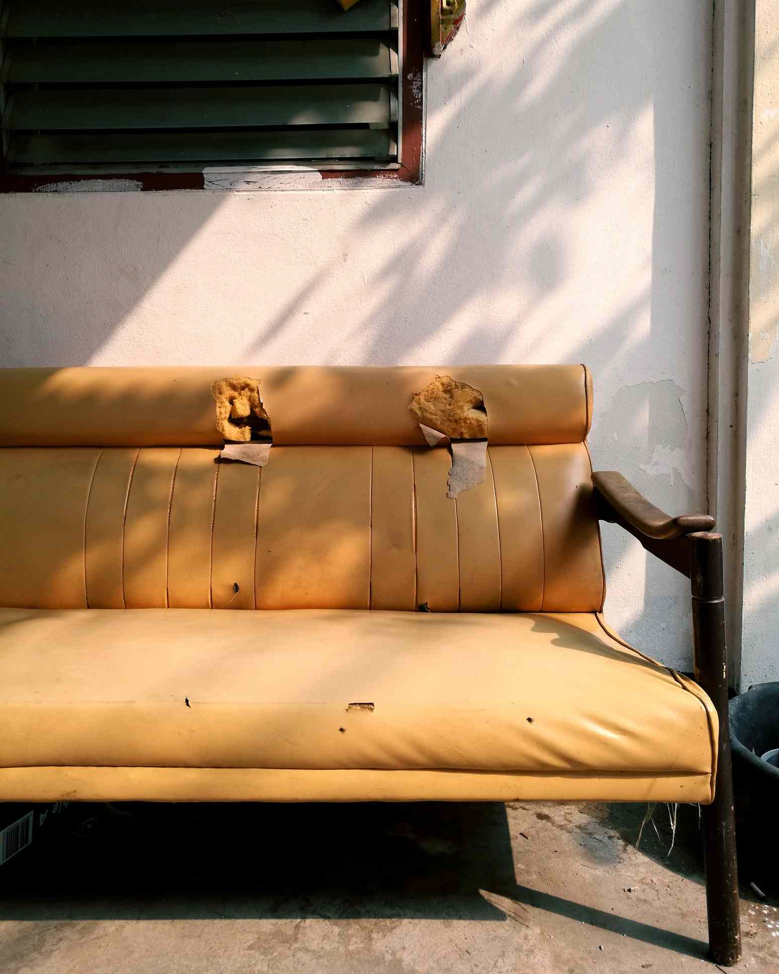 Ripped up couch