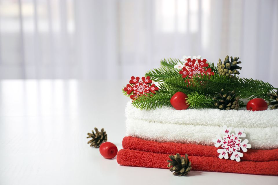 Christmas SPA towels