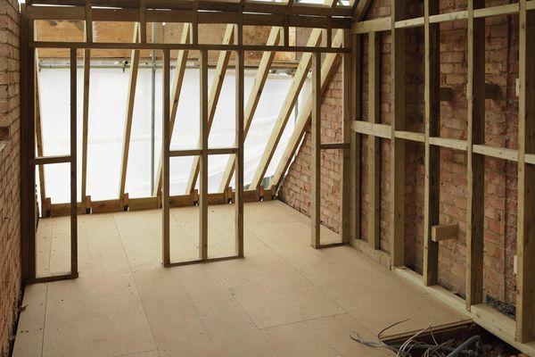 Empty attic space