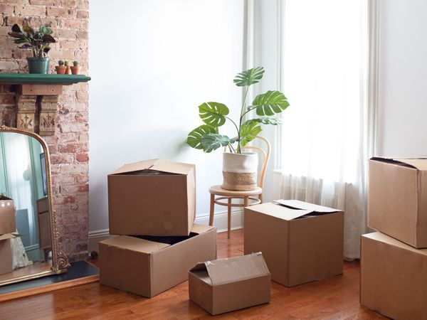 preparing to unpack in a new home