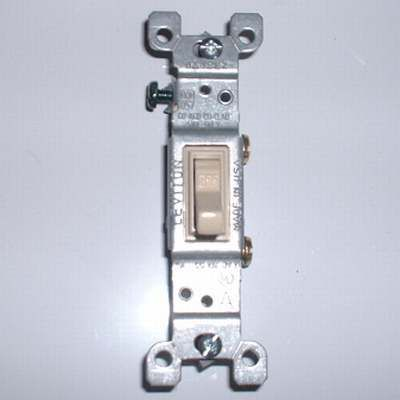 Photo of a Single-Pole Switch