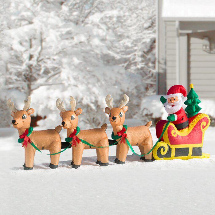 Santa Claus on Sleigh Inflatable