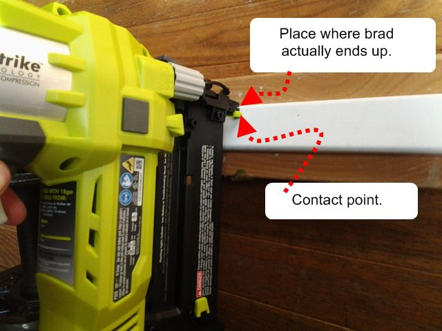 Positioning and Adjusting Depth of Electric Brad Gun