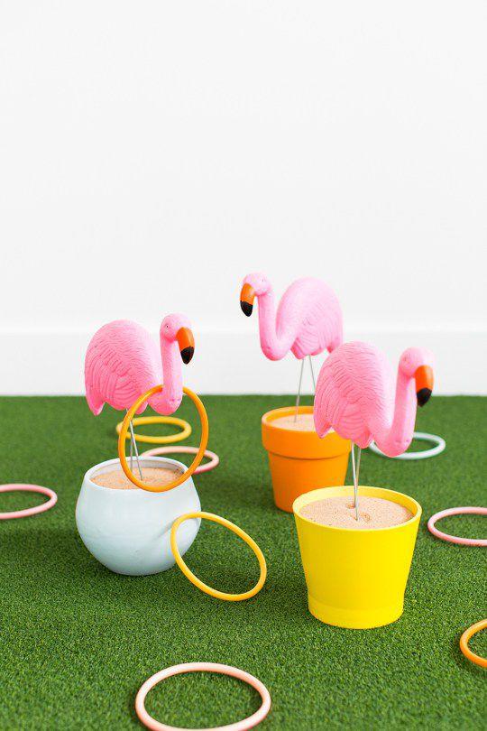 DIY Flamingo Ring Toss