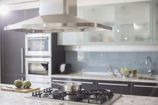 A kitchen with appliances