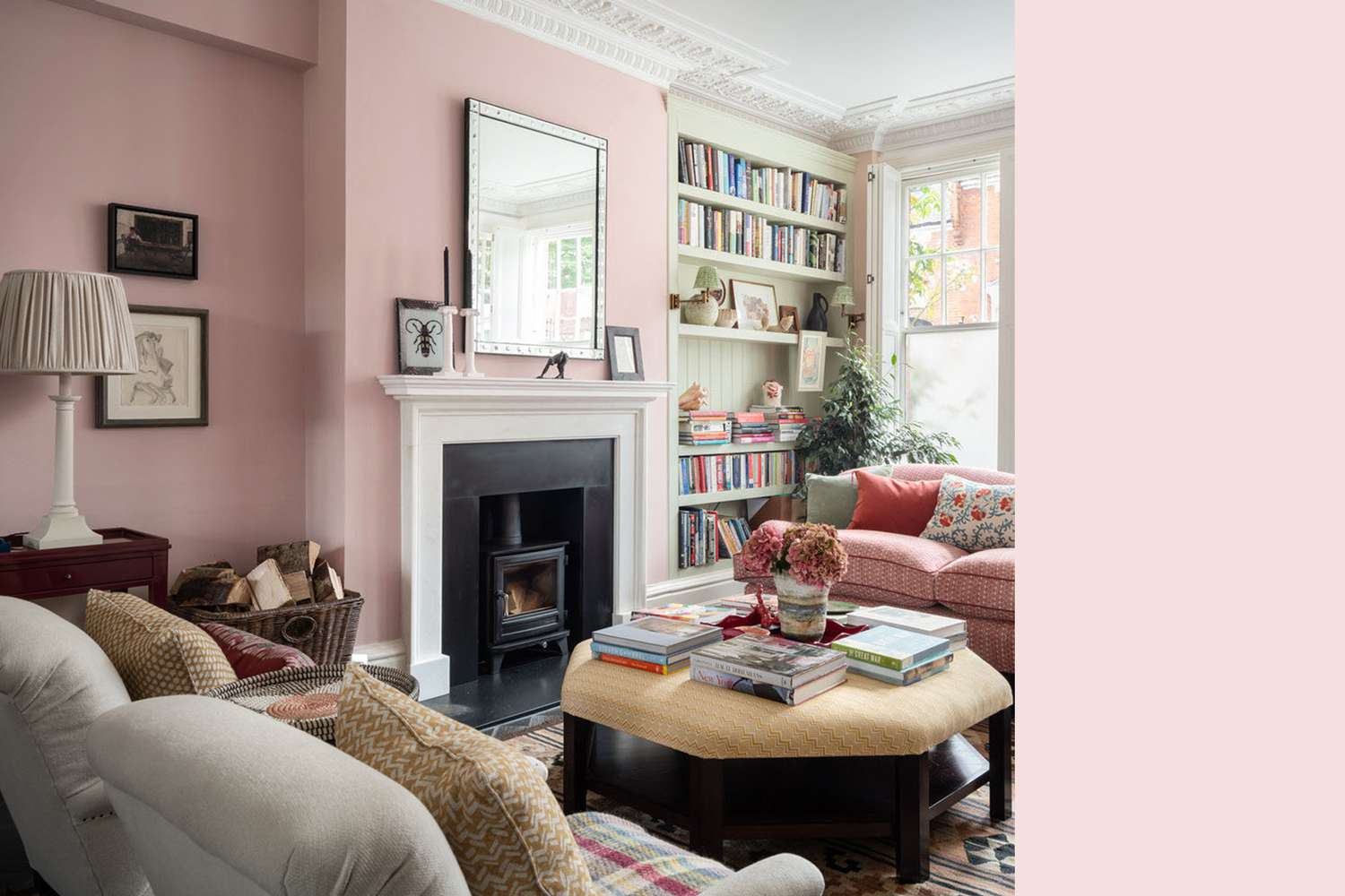 Interior painted a similar color to Middleton Pink