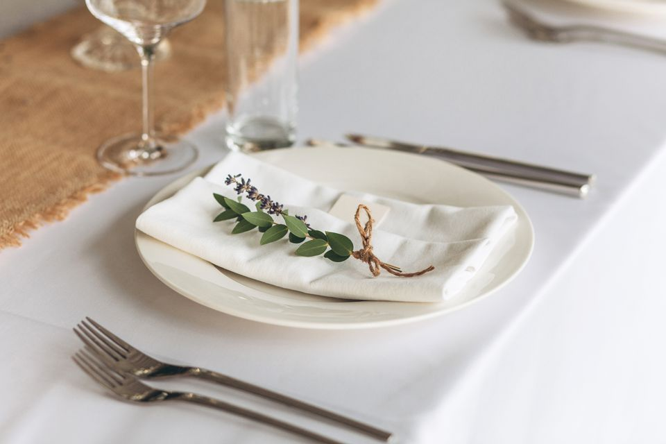 Table setting for a festive event.