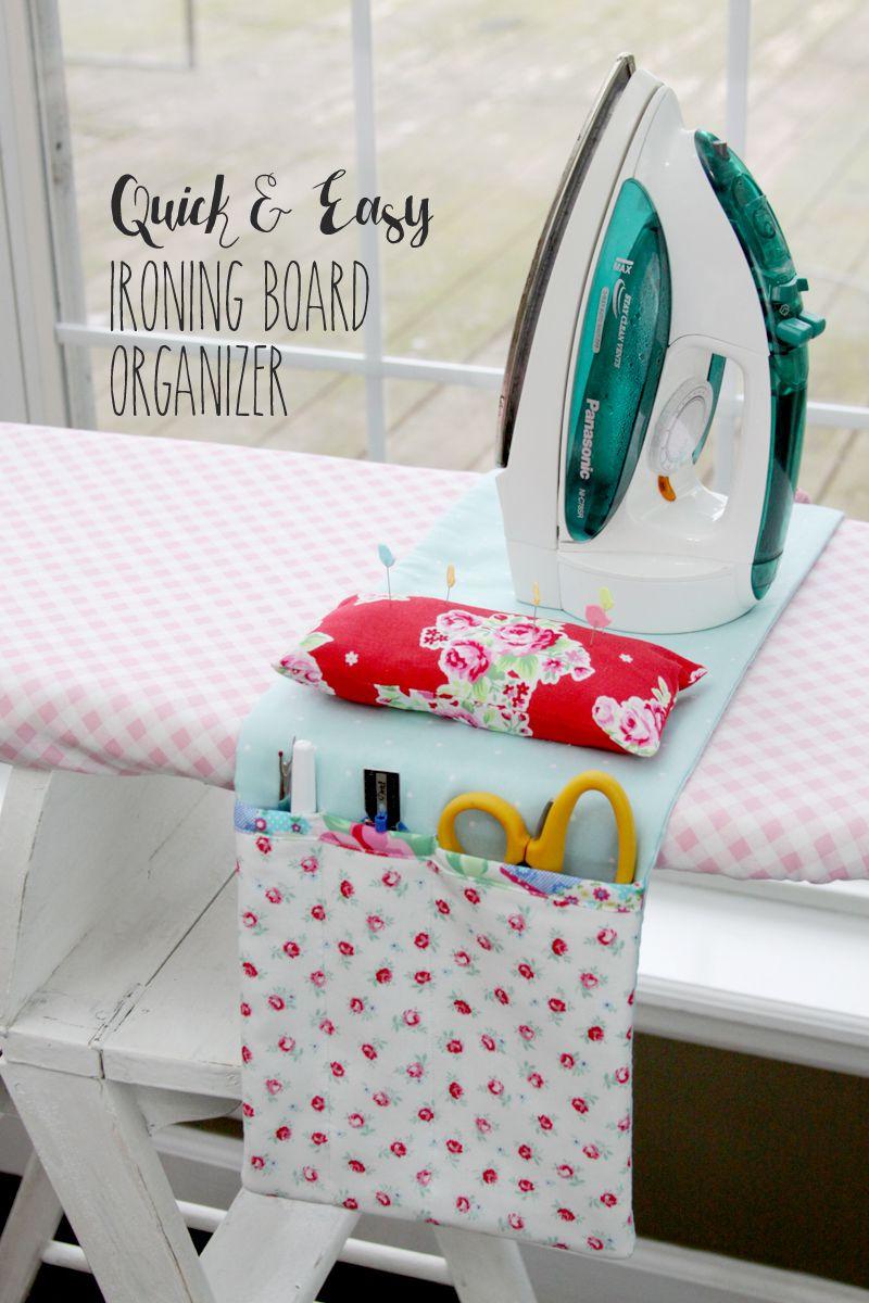 DIY Ironing Board Organizer