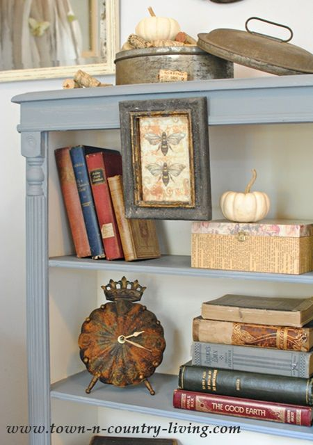 Chalk Paint Bookcase Makeover With A White Interior