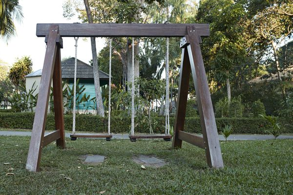 Wood Swingset