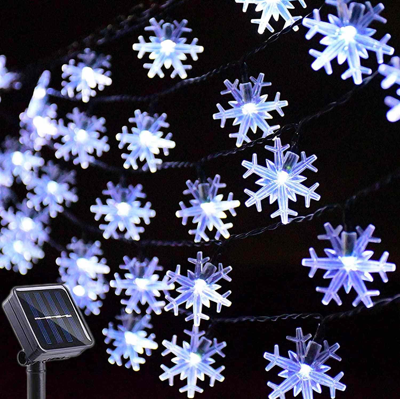 Huacenmy Outdoor Solar Star String Lights