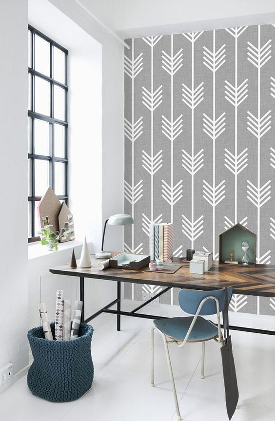 10 Beautiful Rooms Following The Geometric Wallpaper Trend
