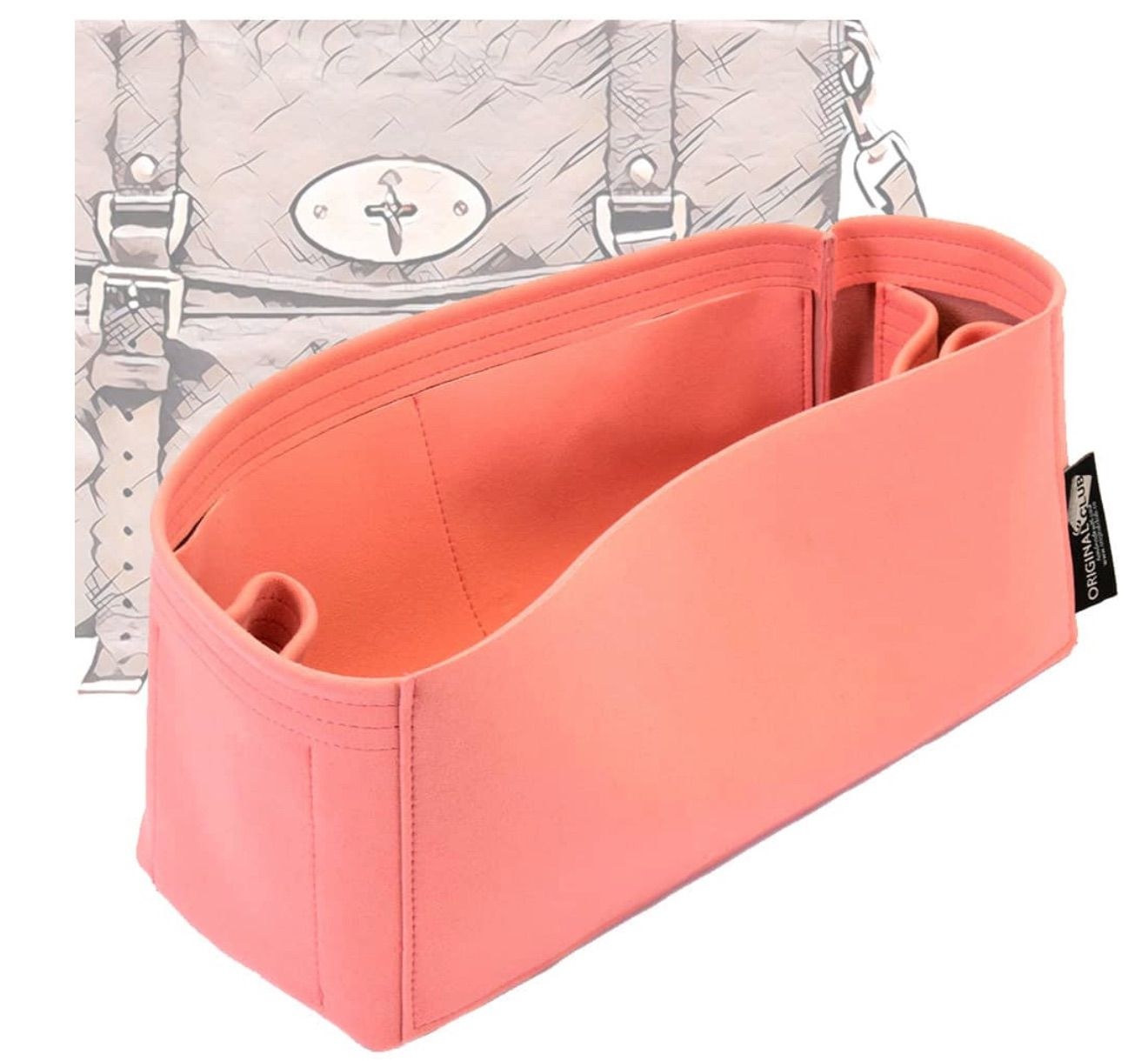 Alexa Suedette Regular Style Leather Handbag Organizer