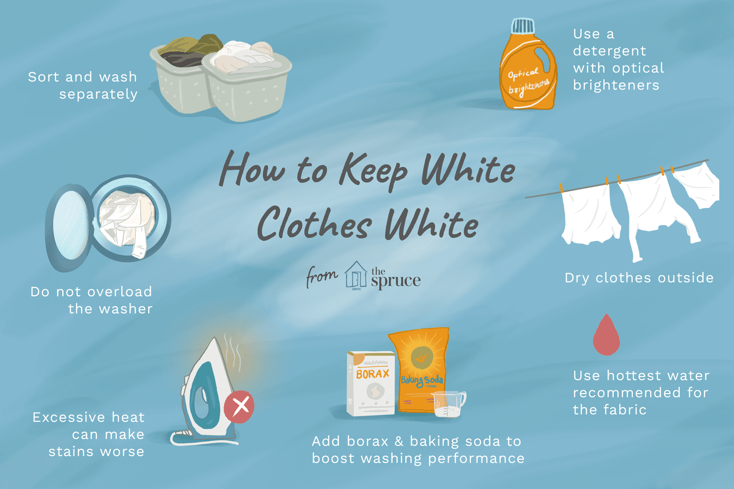 how to keep white clothes white