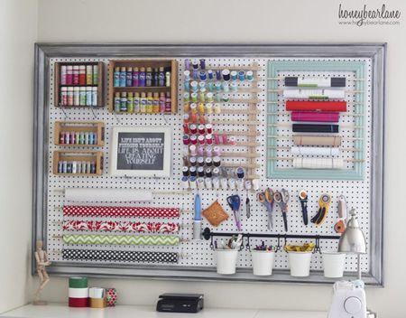 15 Creative Craft Room Organization Ideas