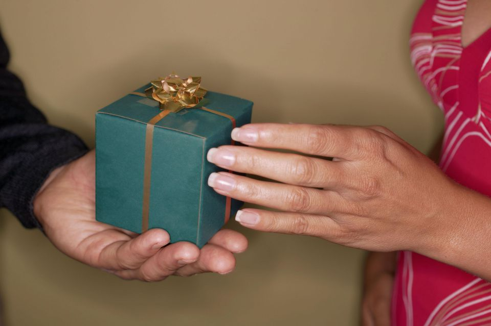 Man giving a present