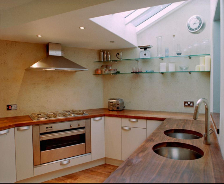 Diseño de cocina con encimeras de madera