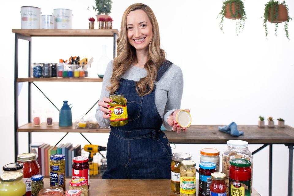 melanie berliet with an open jar