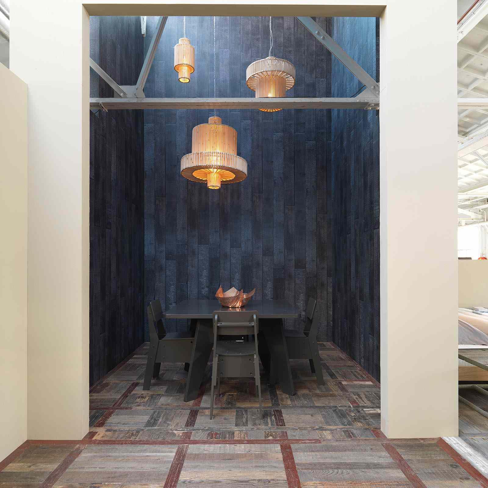 Burnt Wood Wallpaper by Maarten Baas and Piet Hein Eek for NLXL
