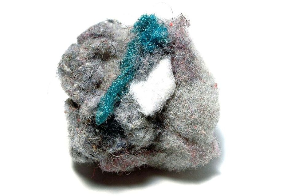 Ball of dryer lint