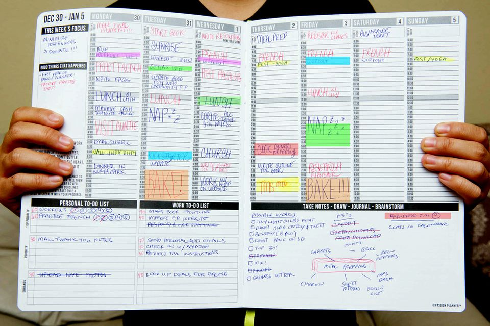 Life hacks to live by personal organizing for Online planner