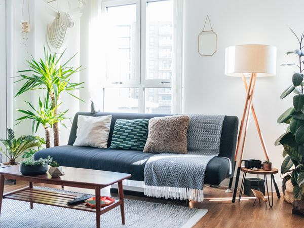 Bright and airy living room for Taurus.