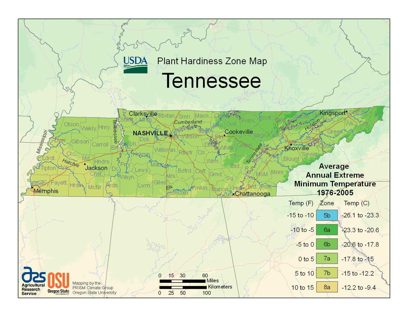 Photo Of Tennessee Hardiness Zones