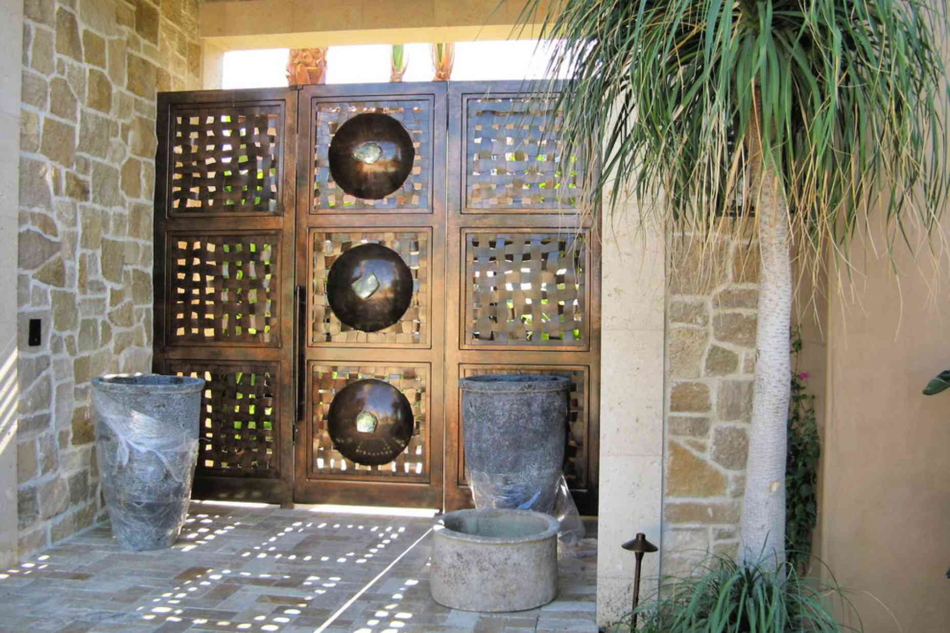 diseño de puerta mediterránea