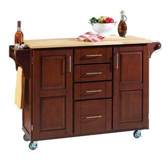 Rolling Cart Used As Kitchen Island