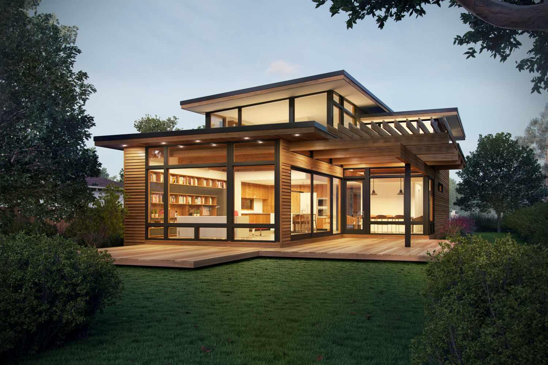 Contemporary prefab house by Turkel Design.