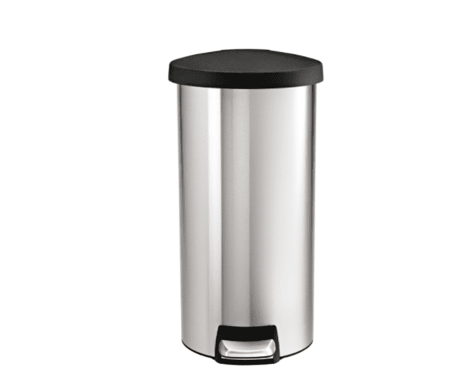 Simplehuman 30 Liter 8 Gallon Stainless Steel Round Kitchen Trash Can