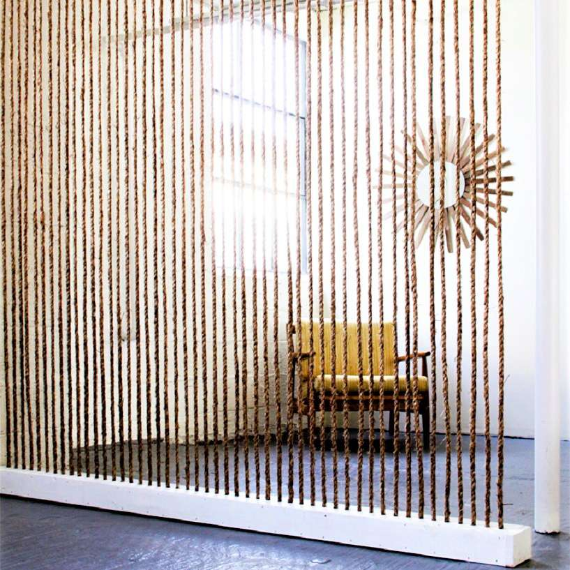 Jute Rope DIY Room Divider