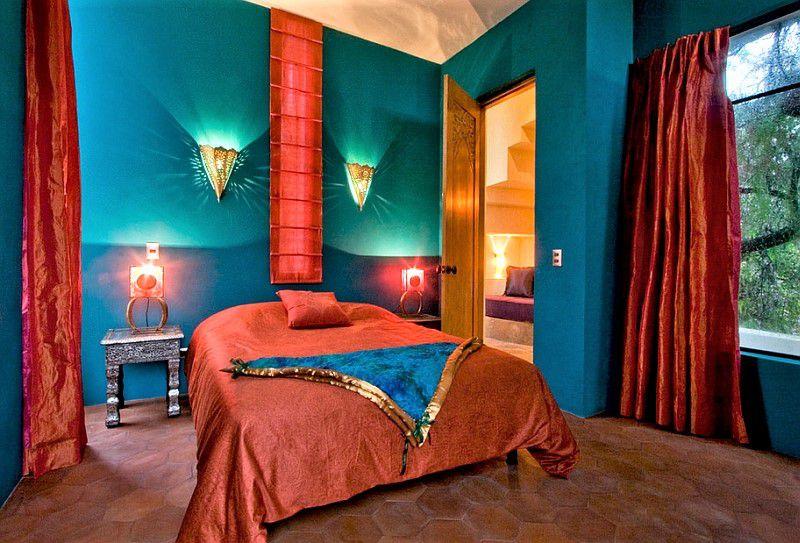Bold bedroom color scheme