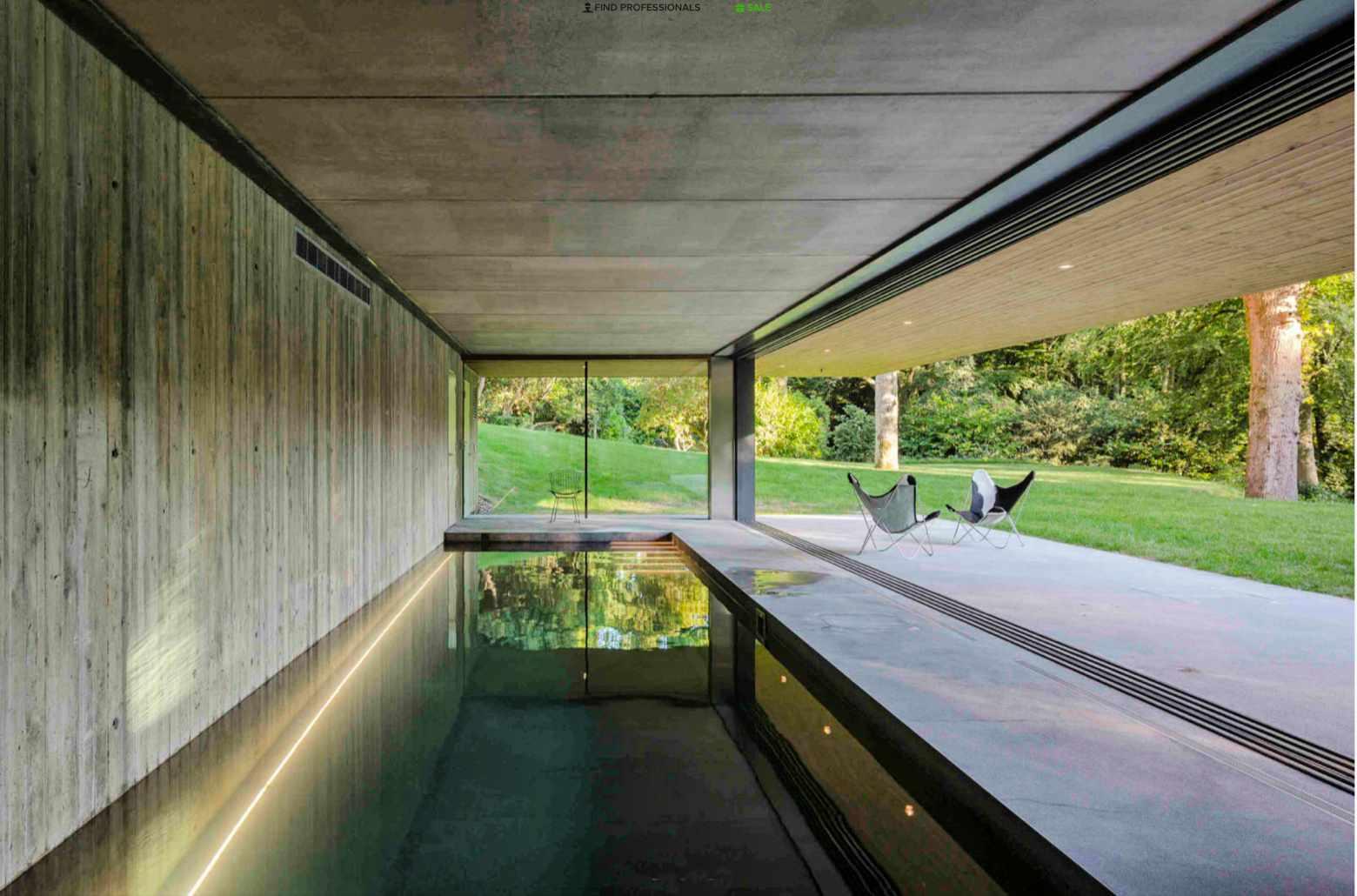 House at Red Bridge indoor swimming pool