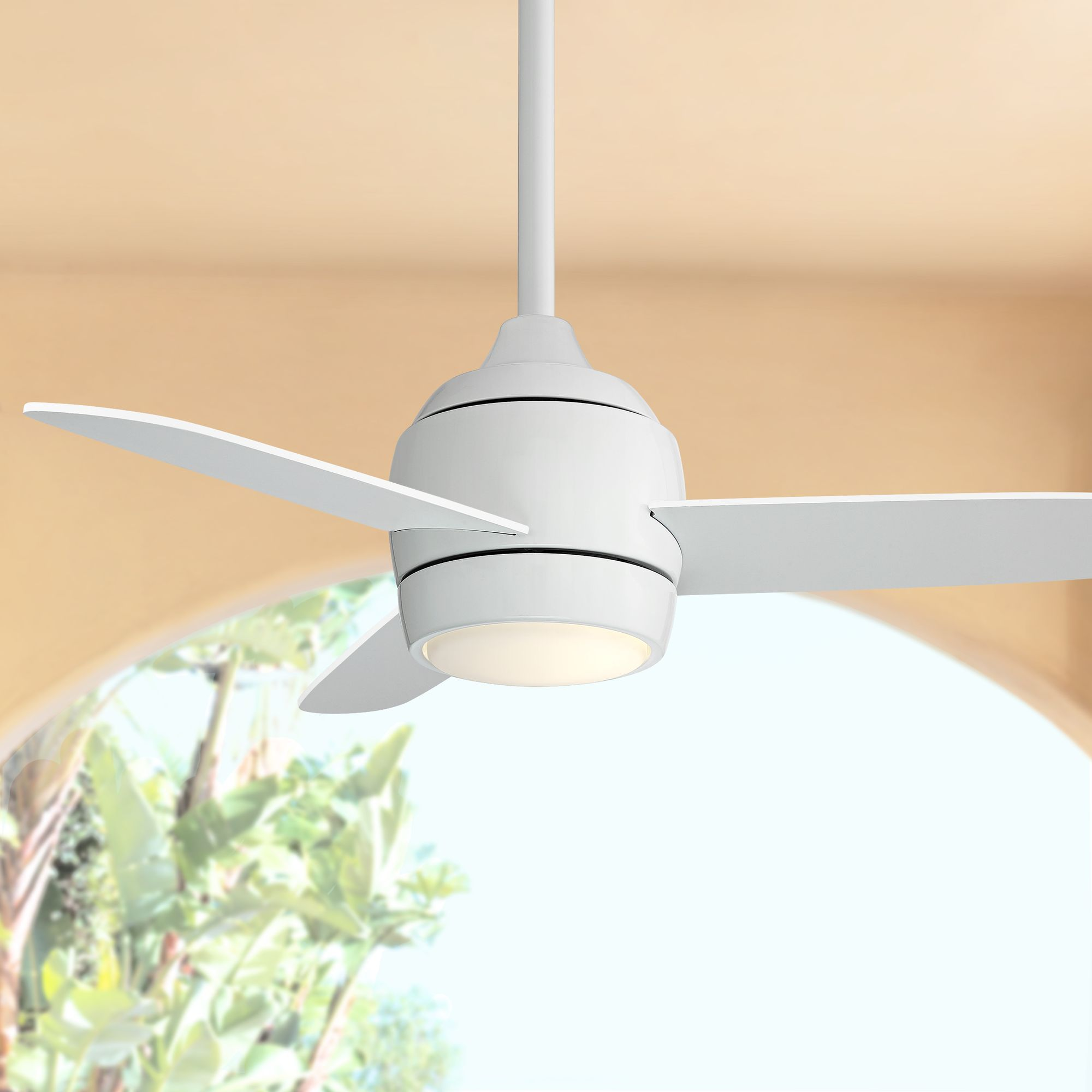 """Casa Vieja 36"""" Airbourne White Damp Rated LED Ceiling F"""