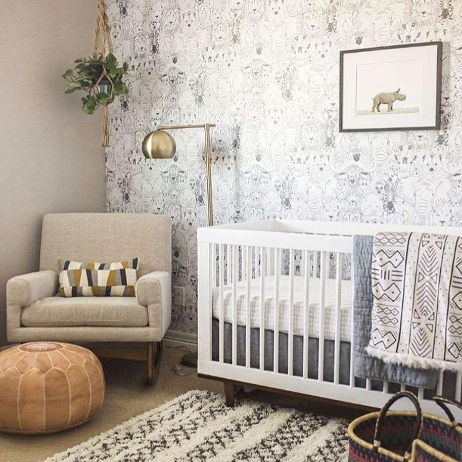 Modern Neutral nursery with rich texture