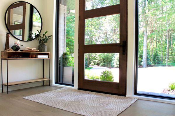modern entryway