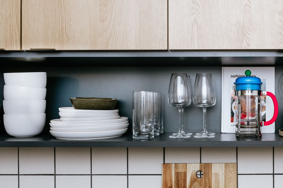 an organised kitchen
