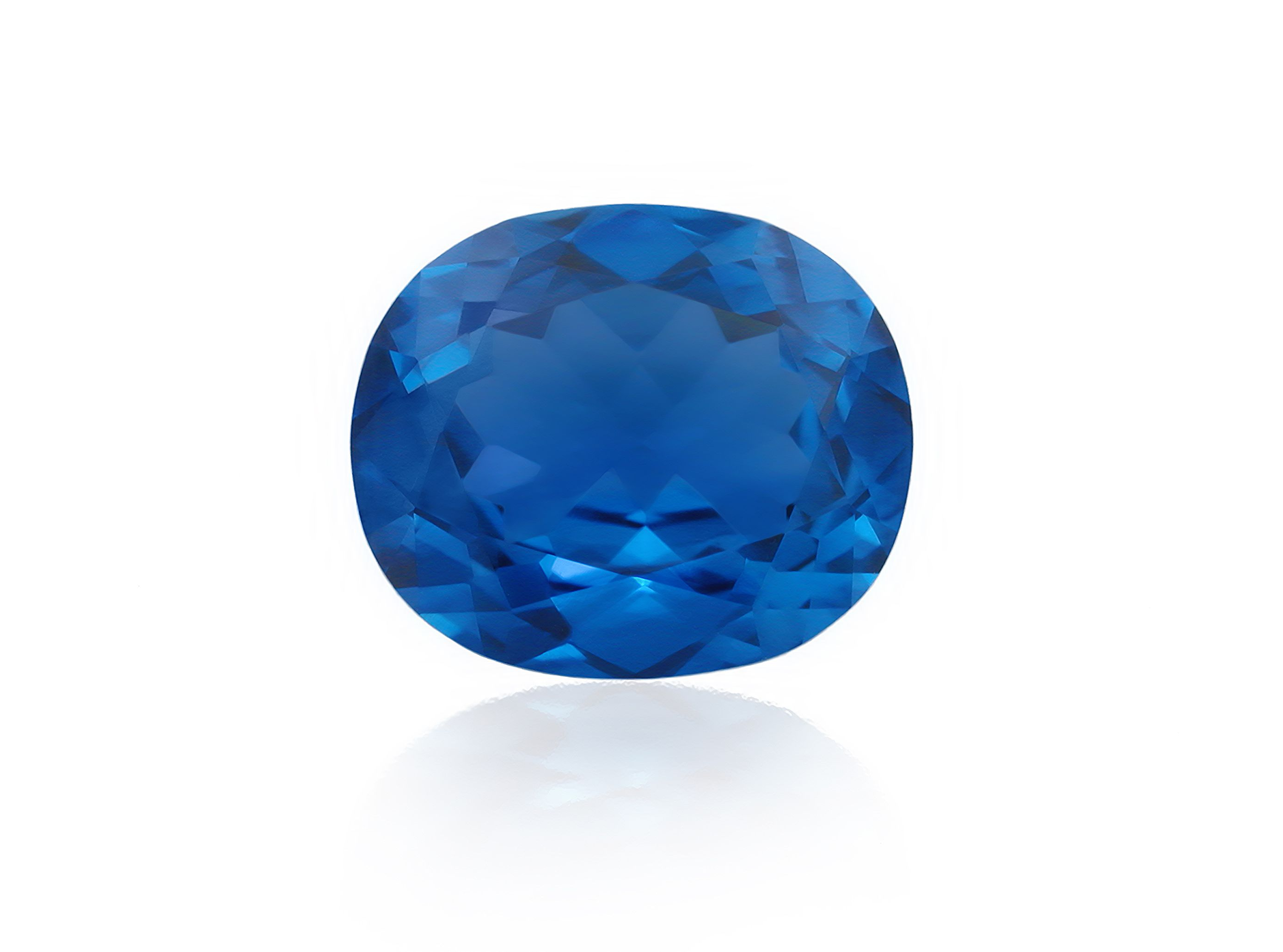 Blue sapphire on a white background