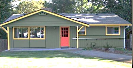 Exterior House Paint Colors Green Yellow